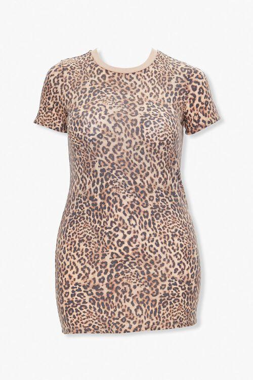 Leopard Print T-Shirt Dress, image 1