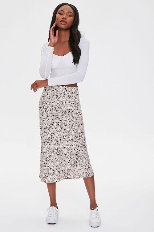 Spotted Print Midi Skirt, image 1