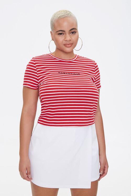 Plus Size Striped Romantique Tee, image 1