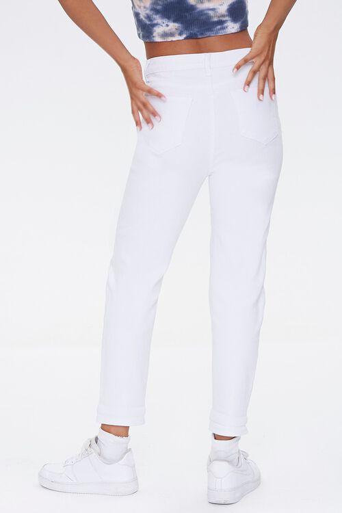 WHITE High-Rise Boyfriend Jeans, image 4