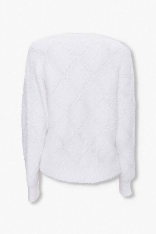 Fuzzy Diamond Pattern Sweater, image 2