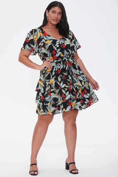 Plus Size Tropical Floral Dress, image 4