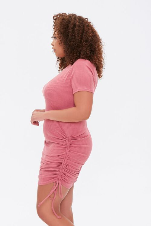 Plus Size Ruched Drawstring T-Shirt Dress, image 2