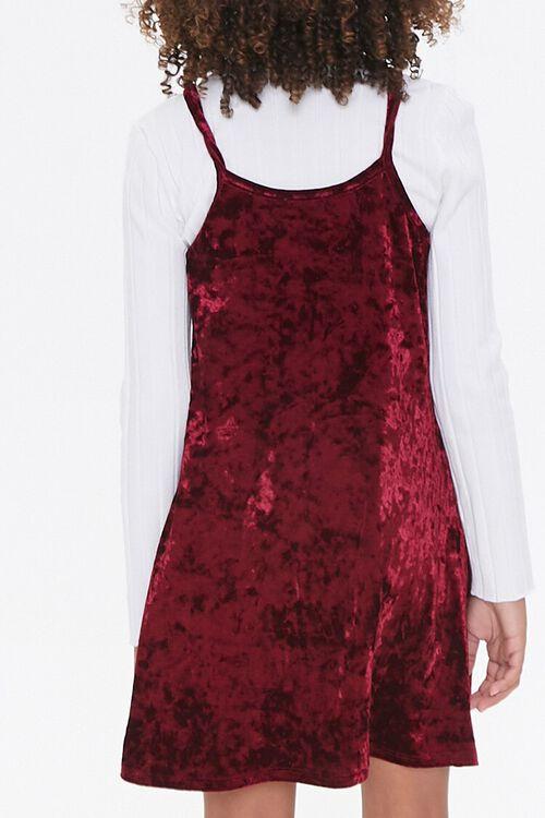 Girls Velvet Cami Dress (Kids), image 3