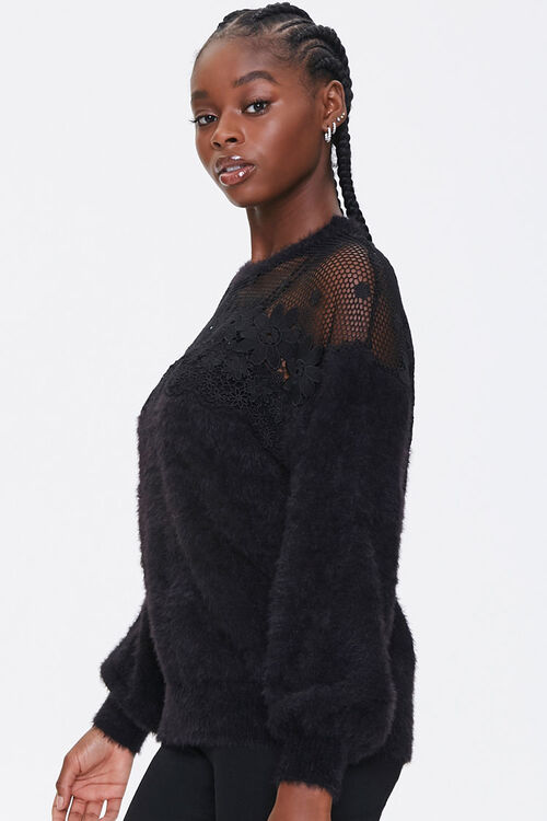Floral Crochet Sweater, image 2