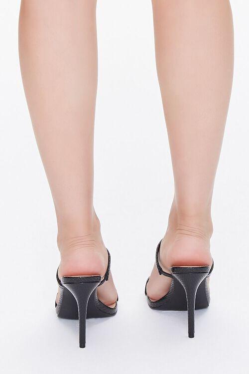 Faux Croc Slip-On Heels, image 3