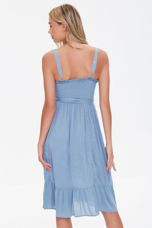 Smocked Crochet-Trim Midi Dress, image 3