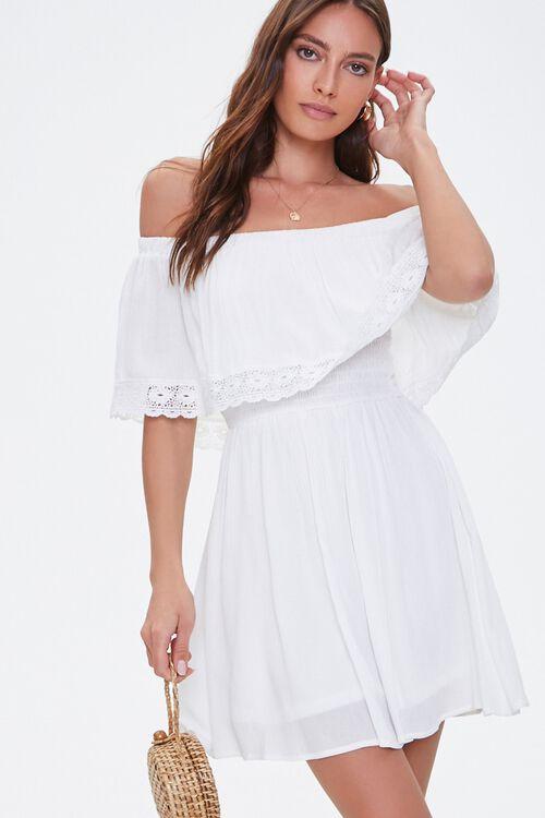Crochet Off-the-Shoulder Dress, image 1