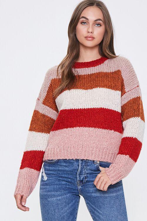 Striped Drop-Shoulder Sweater, image 1