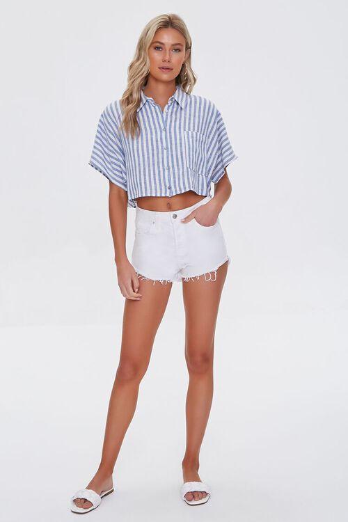 Striped Linen-Blend Shirt, image 4