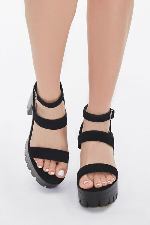 Strappy Platform Block Heels, image 3