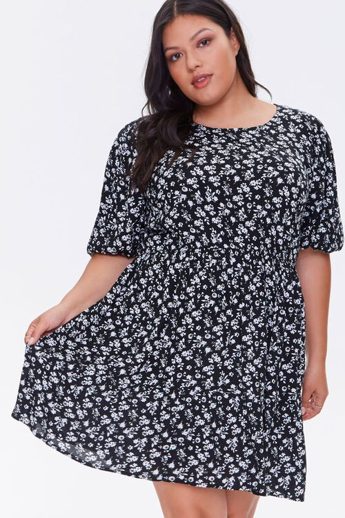 Plus Size Floral Print Dress, image 1