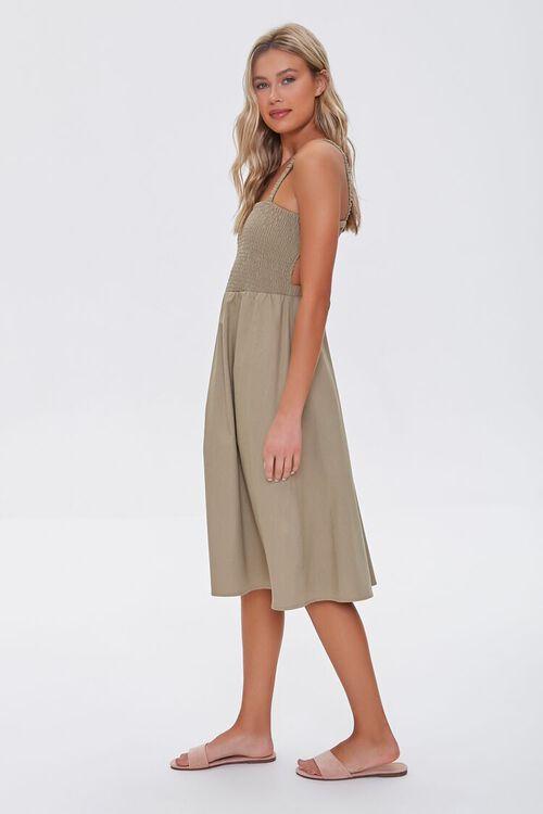Smocked Caged-Back Dress, image 2