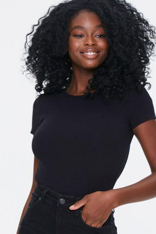 BLACK Cutout Tie-Back Bodysuit, image 4
