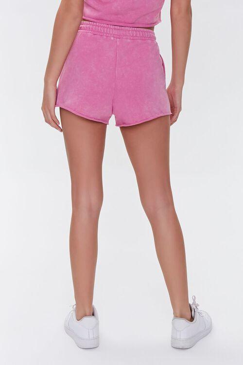 HOT PINK French Terry Drawstring Shorts, image 4