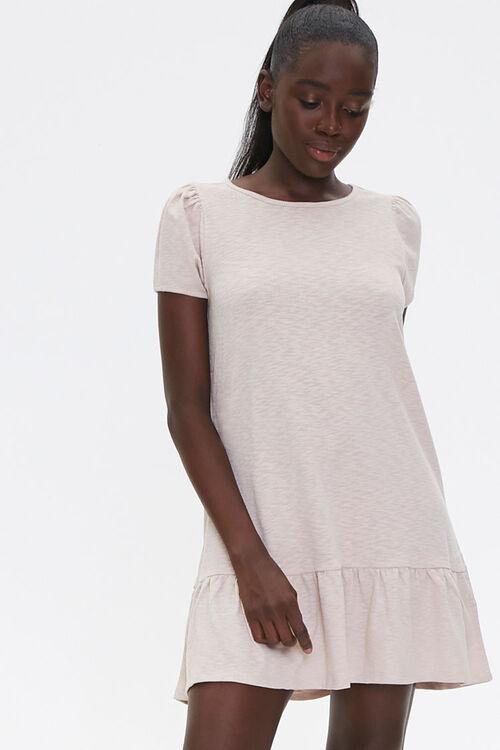 Flounce-Hem Mini Dress, image 1