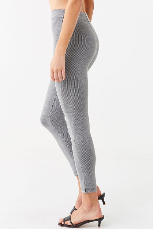 Microplaid Knit Leggings, image 2