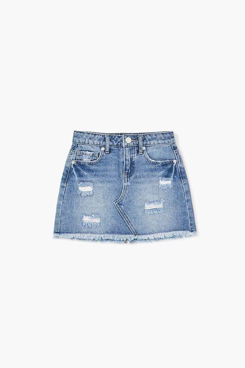 Girls Distressed Denim Skirt (Kids), image 1