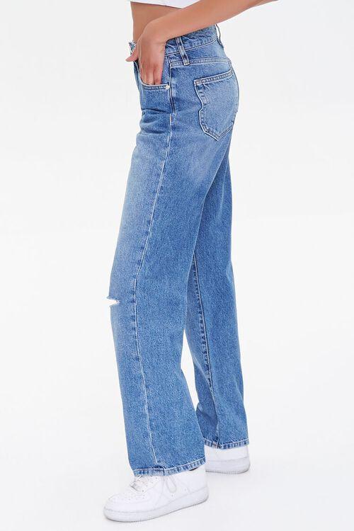 MEDIUM DENIM Distressed 90s-Fit Jeans, image 3