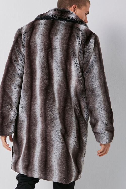 Faux Fur Striped Print Coat, image 3