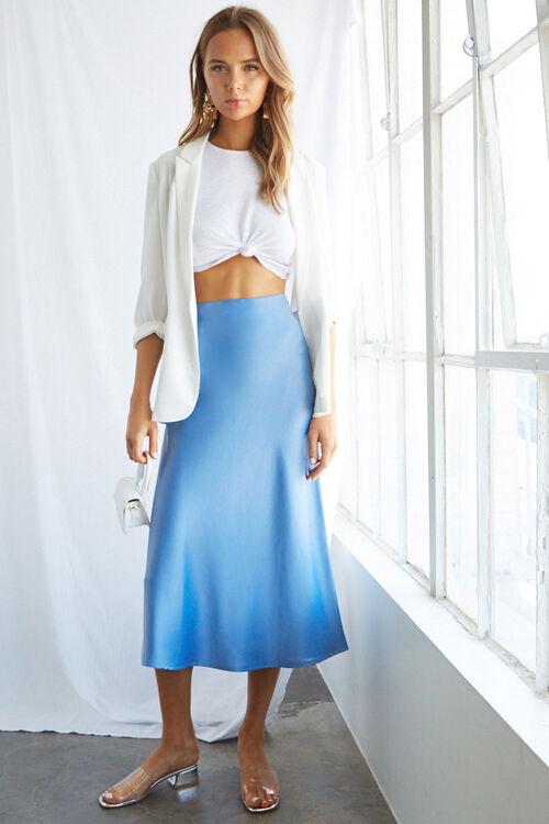 Satin Midi Skirt, image 5