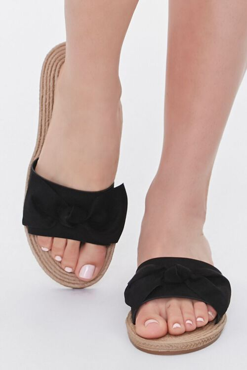 Faux Suede Bow Espadrille Sandals, image 4