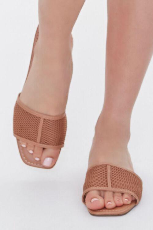 Mesh Square-Toe Sandals, image 4