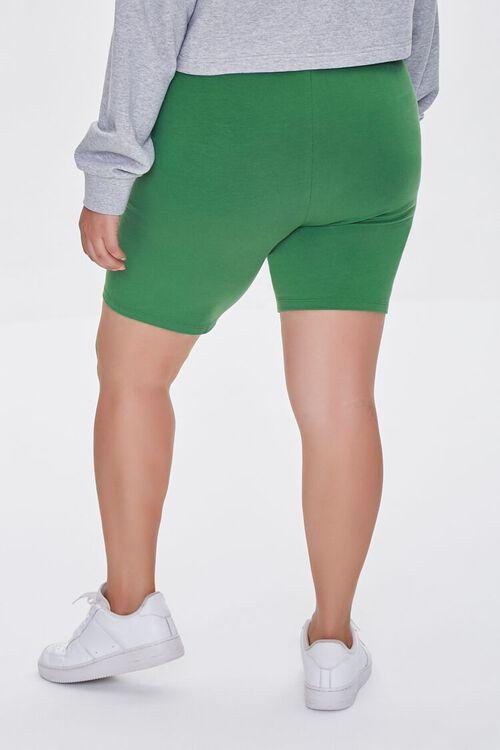 Plus Size Organically Grown Cotton Basic Biker Shorts, image 4