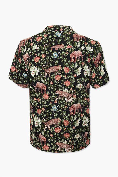 Floral Leopard Print Classic Shirt, image 2