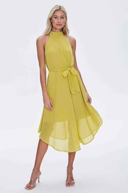 Mock Neck Tie-Waist Dress, image 4