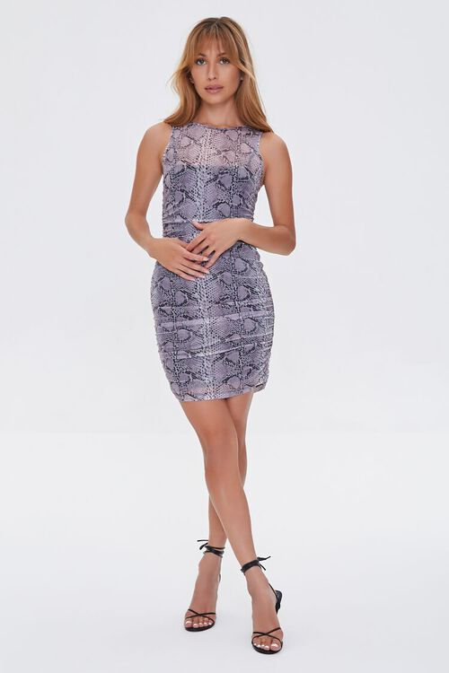GREY/MULTI Snake Print Mini Dress, image 4