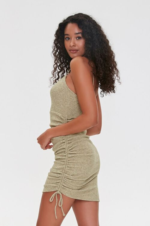 Ruched Drawstring Bodycon Dress, image 2