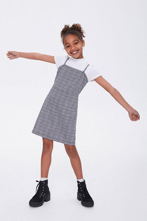 Girls Plaid Cami Dress (Kids), image 3
