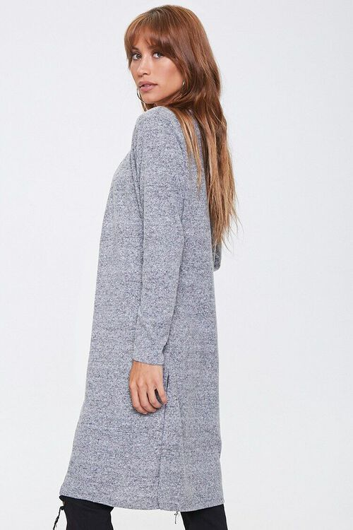 Heathered Open-Front Cardigan, image 2