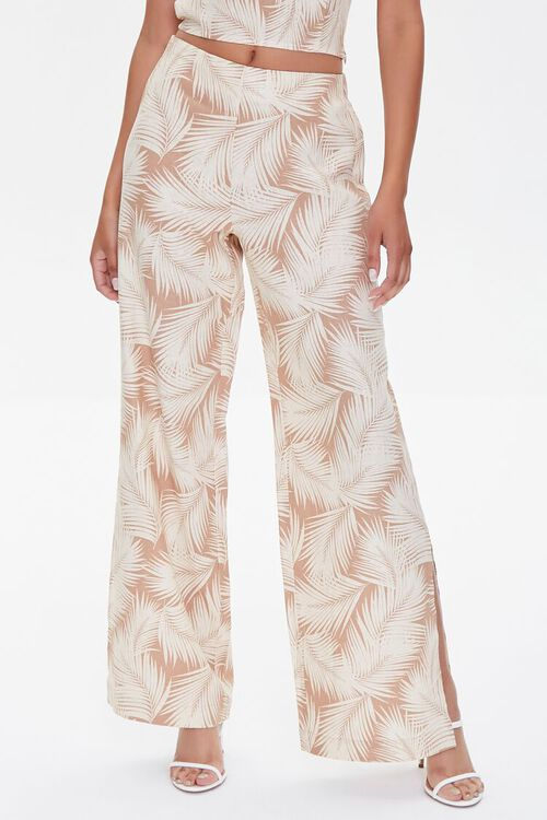 Tropical Leaf Print Pants, image 2