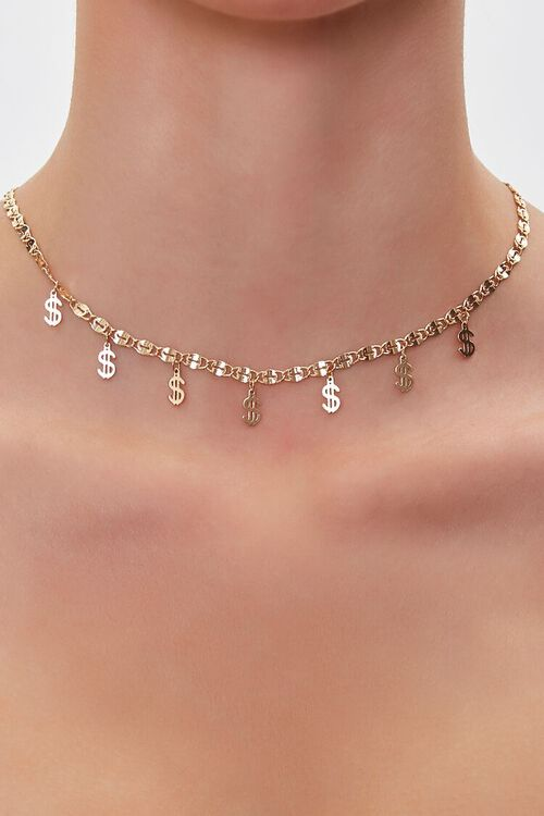Dollar Sign Charm Necklace, image 1