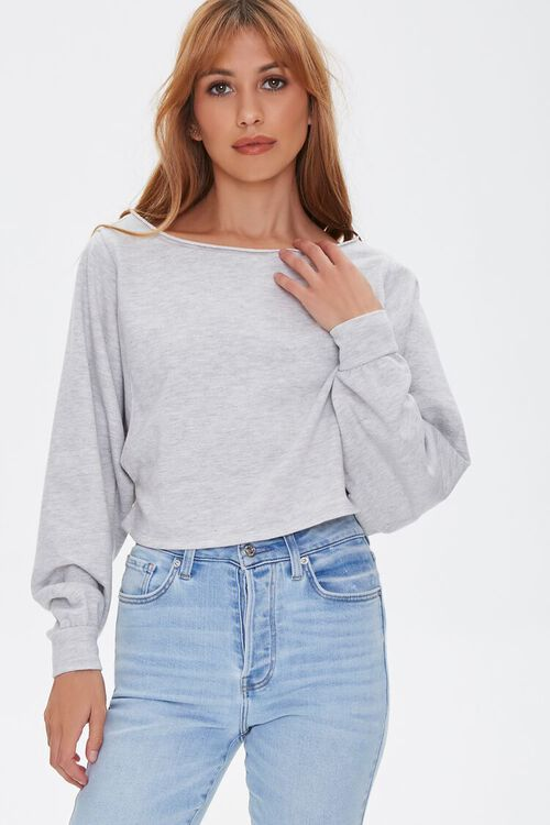 HEATHER GREY French Terry Pullover, image 2