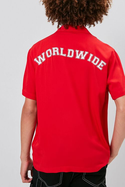 RED/WHITE Classic Fit Worldwide Shirt, image 3