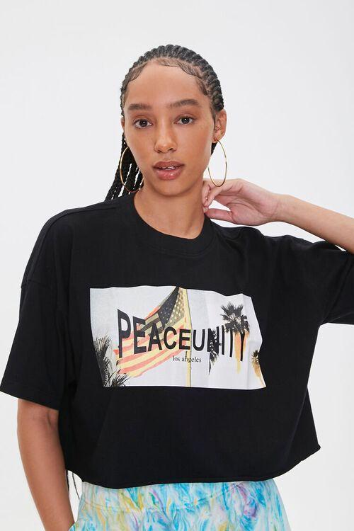 Ashley Walker Peace Unity Graphic Tee, image 1