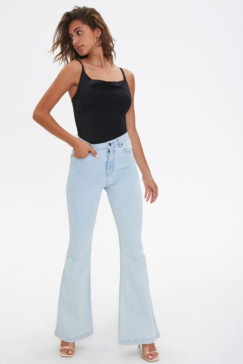Clean Wash Flare Jeans, image 5