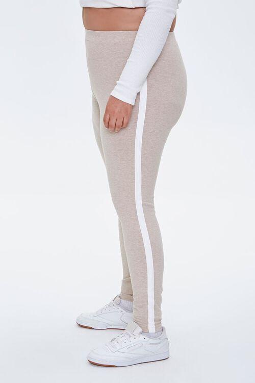 Plus Size Side-Striped Leggings, image 3