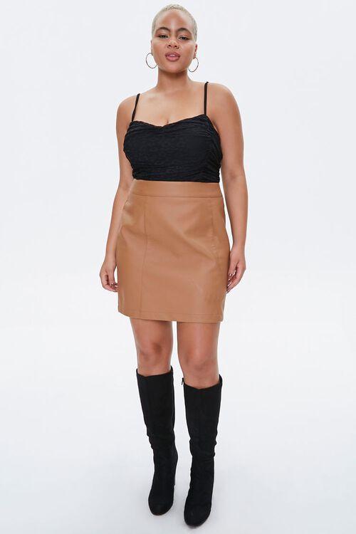 Plus Size Lace Sweetheart Bodysuit, image 4