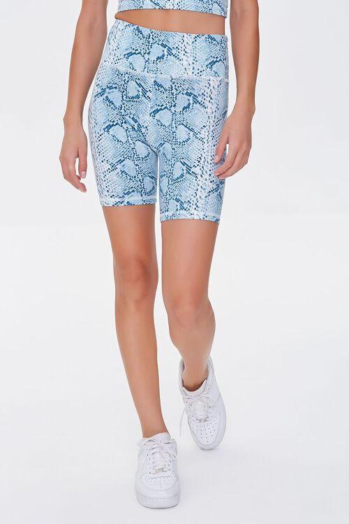 Active Snake Print Biker Shorts, image 2