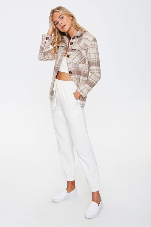 Plaid Button-Up Shacket, image 4
