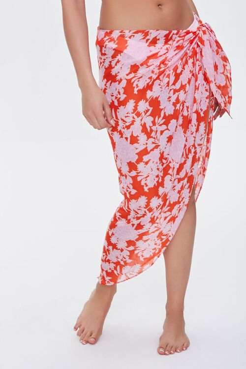 Floral Swim Cover-Up Sarong, image 2