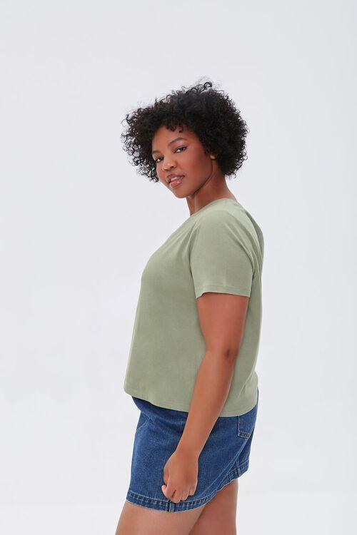 Plus Size Basic Organically Grown Cotton Tee, image 2