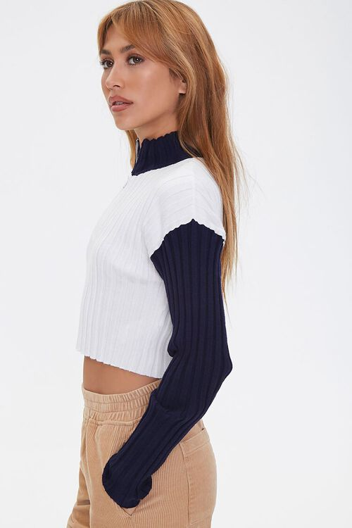 Sweater-Knit Colorblock Pullover, image 2