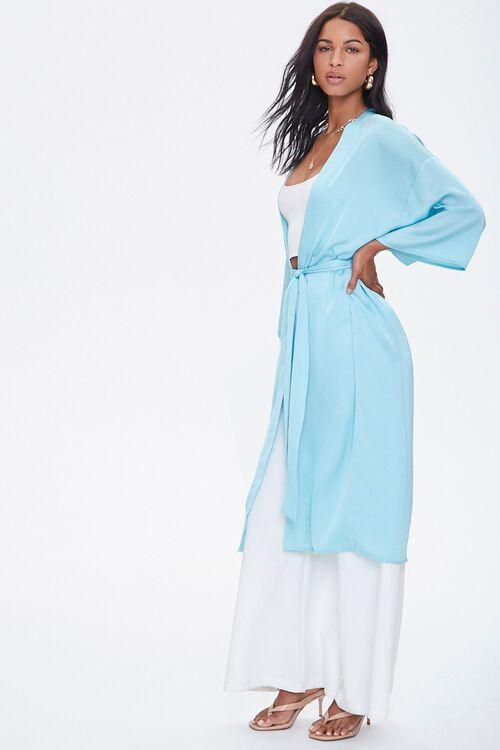 Belted Longline Kimono, image 2