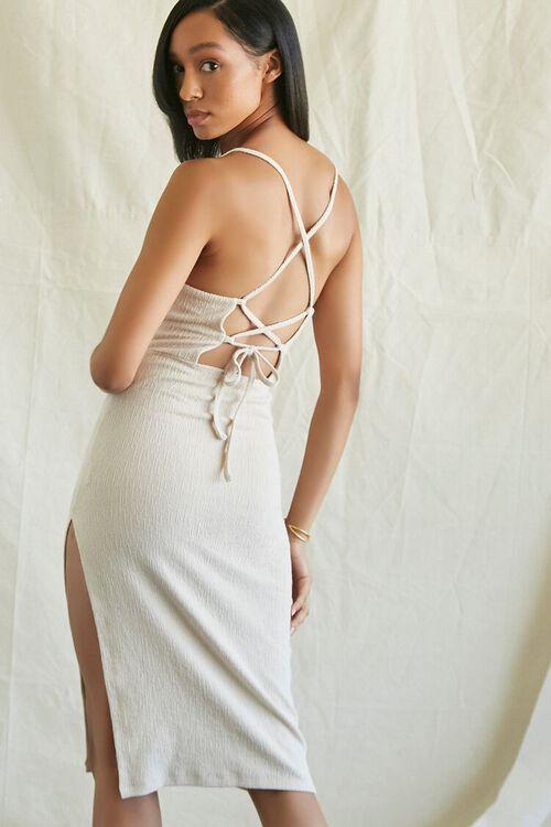 TAUPE Lace-Back Cami Dress, image 1
