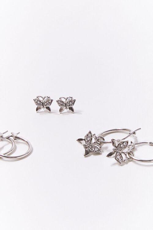 Butterfly Charm Hoop & Stud Earring Set, image 2